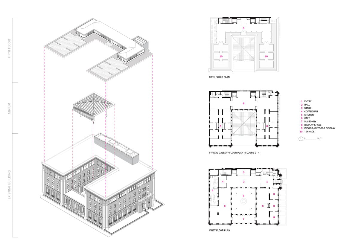 rh floor plan and axon