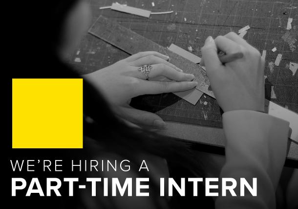 We're hiring a part-time intern