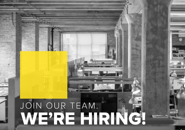 We're Hiring! Join the team.