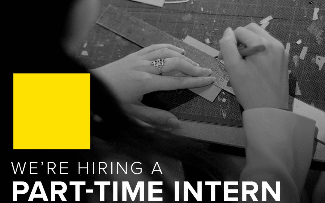 We're hiring a Part-Time Intern!
